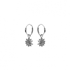 Karma hoops sunflower zilver.