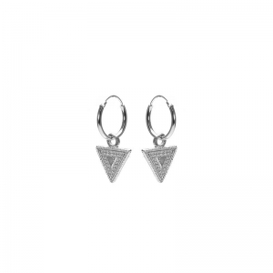 Karma hoops dots line triangle zilver.
