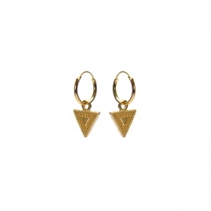 Karma hoops dots line triangle goud.