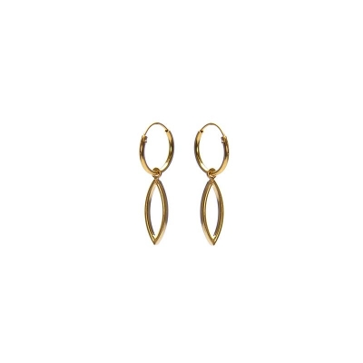 Karma hoops open pointed oval goud.