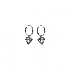 Karma hoops diamond zilver.