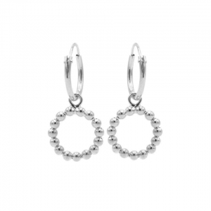 Karma hoops open circle dots zilver.