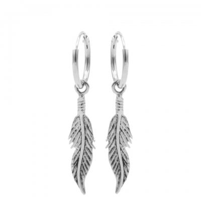 Karma hoops feather lll zilver.
