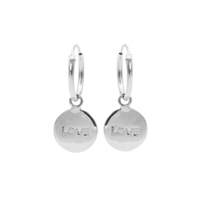 Karma hoops LOVE zilver.