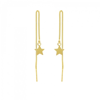 Pull Through Star Goldplated
