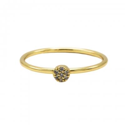 Karma ring diamond disc goldpated.