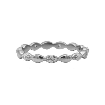 Karma ring zirconia ovals silver.