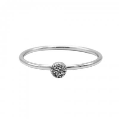 Karma ring diamond disc silver.
