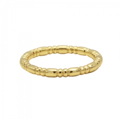 Karma ring dots tube goldplated.