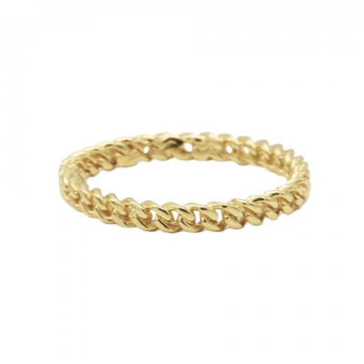 Karma ring chain goldplated.