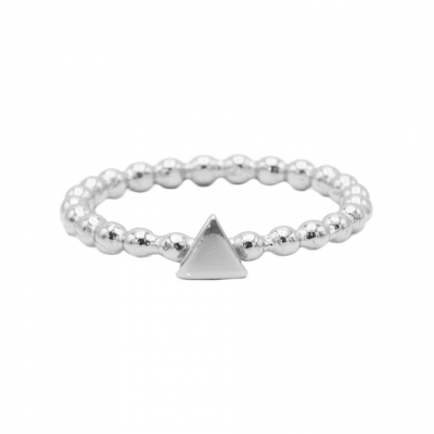 Karma ring dots triangle silver.