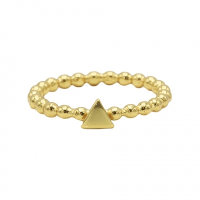 Karma ring dots triangle goldplated.