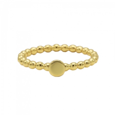 Karma ring dots disc goldplated.