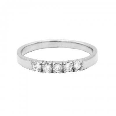Karma ring 4 zirkonia silver.