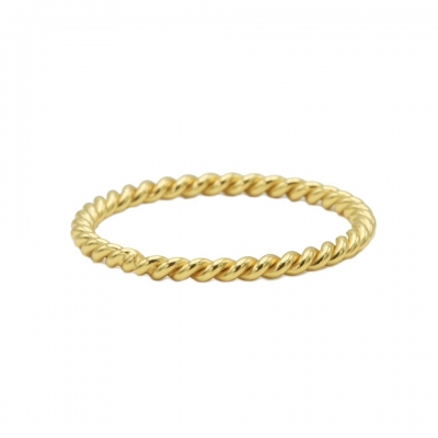 Karma ring twisted plain goldplated.