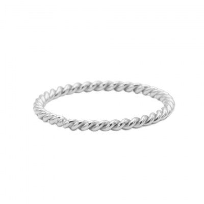 Karma ring twisted plain silver.