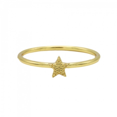 Karma ring star goldplated.
