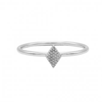 Karma ring diamond shape silver.
