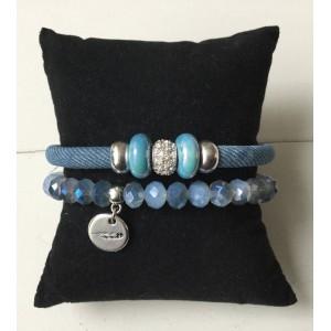 Armbanden setje lichtblauw