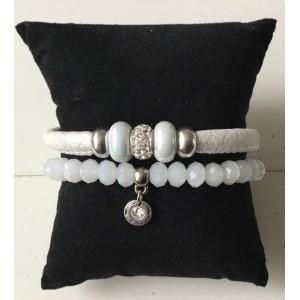 Armbanden setje wit