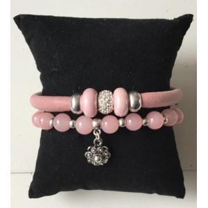 Armbanden setje roze