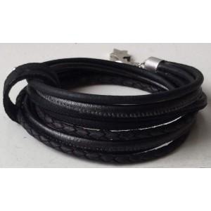 -nieuw-Wikkelarmband zwart met bandje.