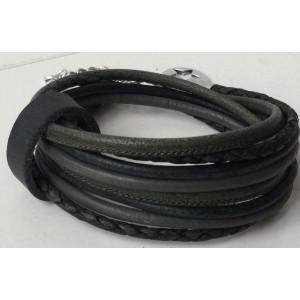 -nieuw-Wikkelarmband groen met bandje.