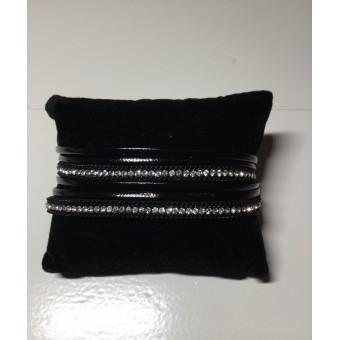 Armband wikkel zwart.