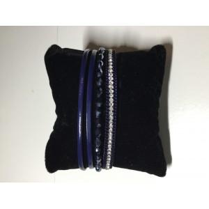 Armband kraal donkerblauw.