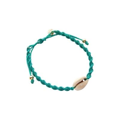 Biba armbandje met schelp turquoise.