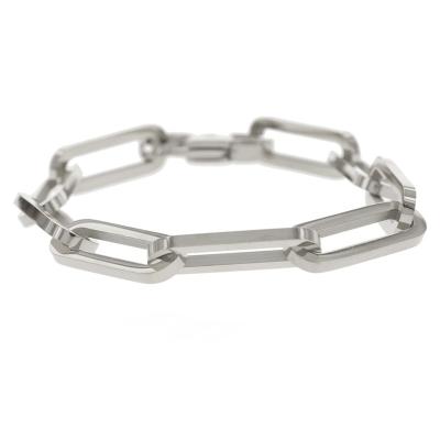 KalliKalli schakelarmband grof zilver.