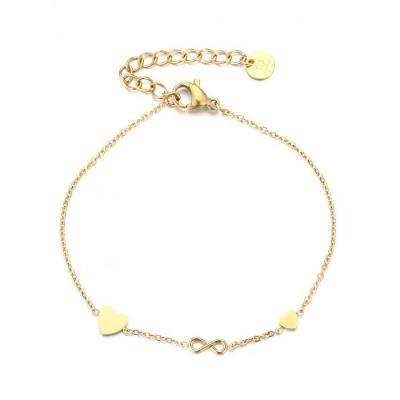 armband double love infinity goud.