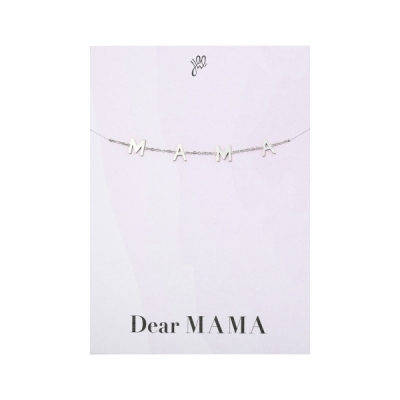MAMA armband zilver.
