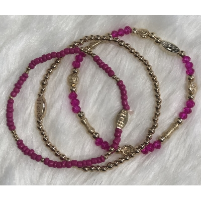 Stras4You set fuchsia goud.