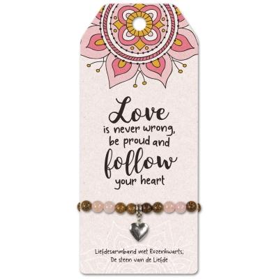 Armbandje Follow Your Heart.