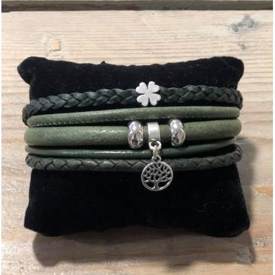 Enkele Wikkelarmband groen.