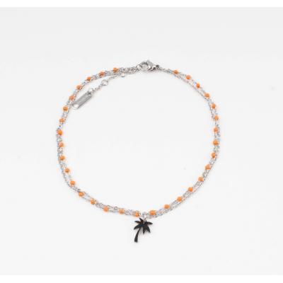 Enkelbandje palmboom oranje.