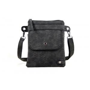 Heup/ schoudertasje zwart.