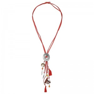 Ketting suède rood.
