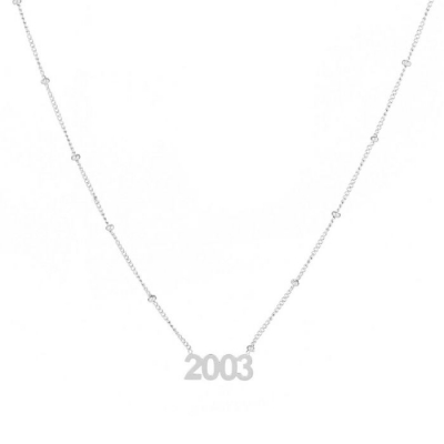 Ketting 2003 zilver.