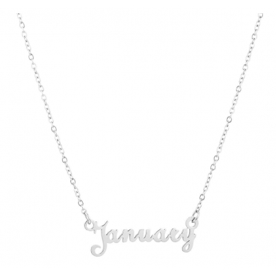 Ketting January zilver.