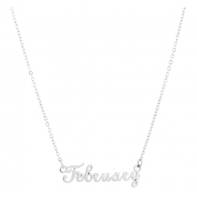 Ketting february zilver.