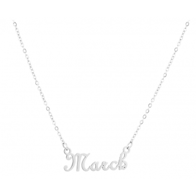 Ketting March zilver.