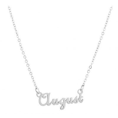 Ketting August zilver.