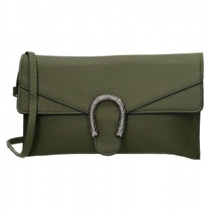 Trendy clutch groen.
