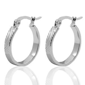 Stainless steel oorbellen 1.