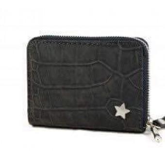 -nieuw-Portemonnee klein met sterretje en kwastje zwart.