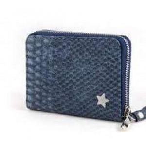 -nieuw-Portemonnee klein met kwastje en sterretje blauw.