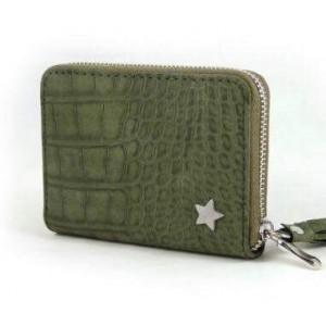 -nieuw-Portemonnee klein met kwastje en sterretje groen.