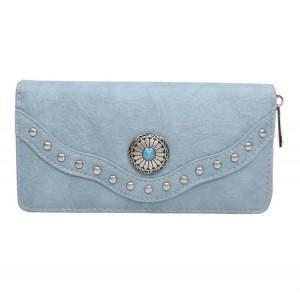 Portemonnee met steen groot blauw.